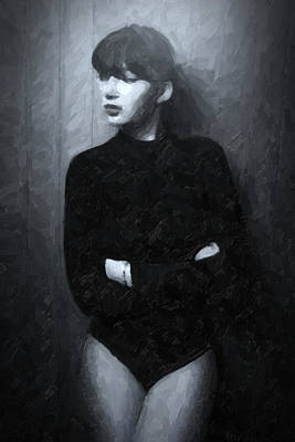 Alluring Painting - The Girl 4/4 by Tilly Williams
