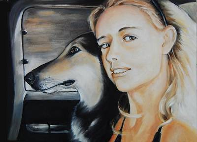 The Girl And Her Dog  Original