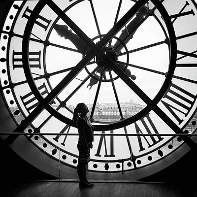 Photograph - The Girl And The Clock by Jessica Levant
