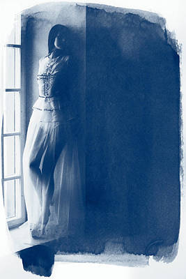 The Girl At The Window. Art Print