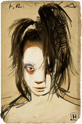 Horror Digital Art - the Girl from Korea by H James Hoff