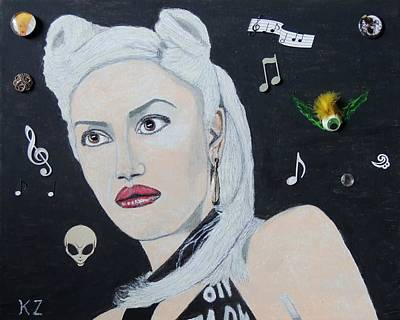 Painting - The Girl From Orange County.gwen Stefani. by Ken Zabel