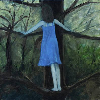 Painting - The Girl In The Blue Dress by Tone Aanderaa