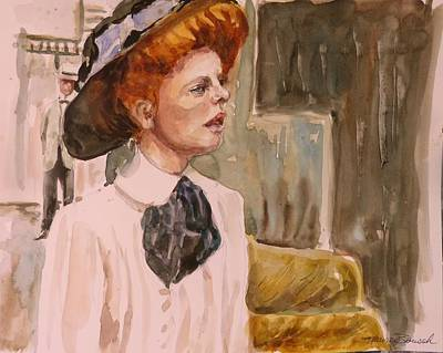 Painting - The Girl In The Movies by P Maure Bausch