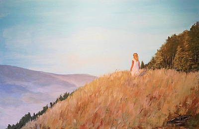 Painting - The Girl On The Hill by Alan Lakin