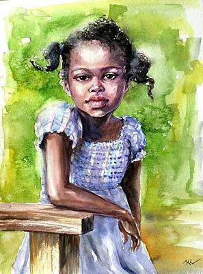 The Girl On The Veranda Art Print