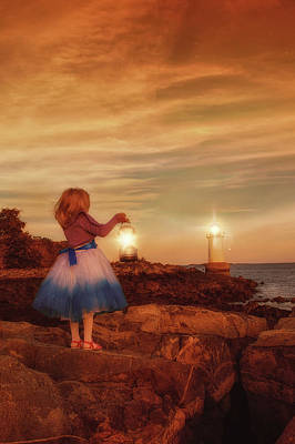 Photograph - The Girl With A Lantern by Lilia D