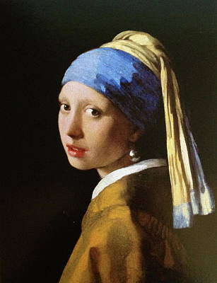 The Girl With A Pearl Earring Art Print by MotionAge Designs