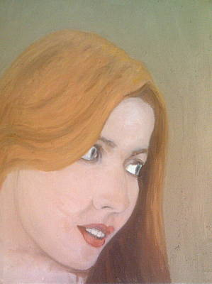 Painting - The Girl With Carrot Coloured Hair by Peter Gartner