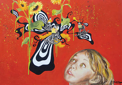 The Girl With Kaleidoscope Eyes Art Print by Jacqueline DelBrocco