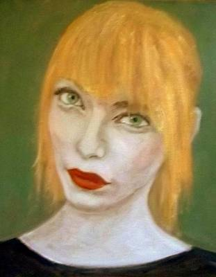 Pale Complexion Painting - The Girl With Orange Hair by Peter Gartner