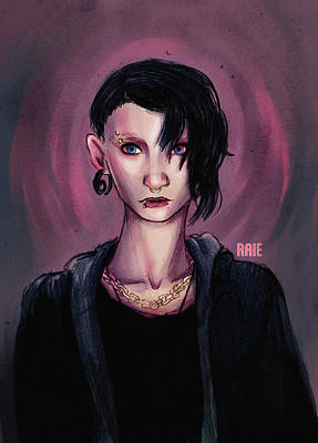 The Girl With The Dragon Tattoo Digital Art - The Girl With The Dragon Tattoo by Amanda Raie