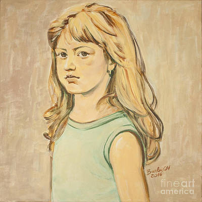 Art Print featuring the painting The Girl With The Golden Hair by Olimpia - Hinamatsuri Barbu