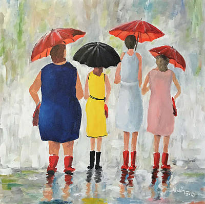 Painting - The Girls by Alan Lakin