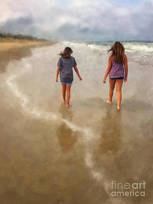 Digital Art - The Girls - Final by Lois Bryan