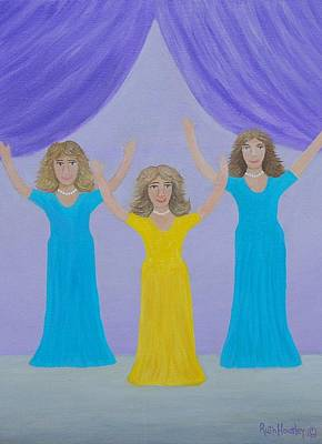 The Giving Of Praise Art Print by Ruth  Housley