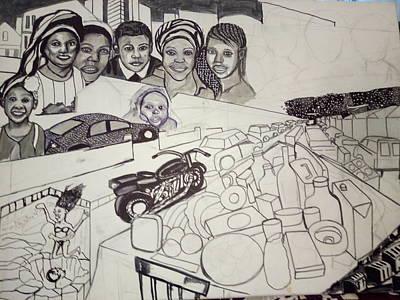 The Glad Tidings Of Saint Davids Road - Northampton Art Print by Mudiama Kammoh