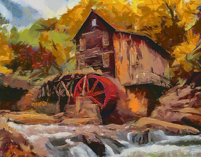 Painting - The Glade Creek Grist Mill by Dan Sproul
