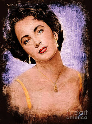 Painting - The Glamour Days Liz Taylor by Andrew Read