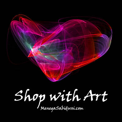 Digital Art - The Glass Heart - Shop With Art by Menega Sabidussi