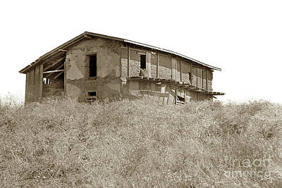 Photograph - The Glass House, Casa Materna Of The Vallejos Near Watsonville by California Views Mr Pat Hathaway Archives