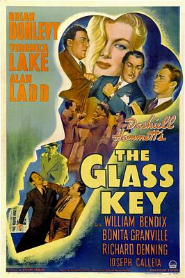 The Glass Key, William Bendix, Veronica Art Print