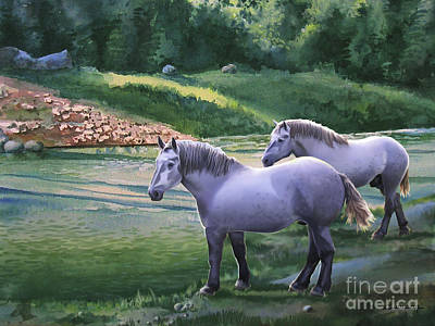 Gleam Painting - The Gleams Of The River by Christian Simonian