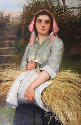 Charles Sillem Lidderdale Painting - The Gleaner by MotionAge Designs