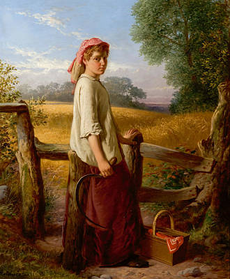 Painting - The Gleaner by William Henry Midwood