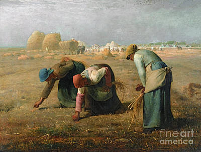 Woman Painting - The Gleaners by Jean Francois Millet