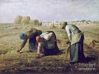 The Gleaners Painting - The Gleaners by MotionAge Designs