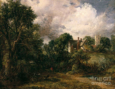 English Riding Painting - The Glebe Farm by John Constable