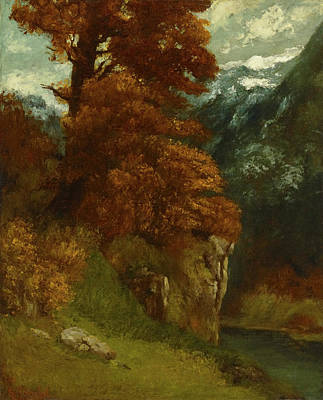 Painting - The Glen At Ornans by Gustave Courbet