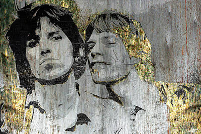 Mixed Media - The Glimmer Twins by Tony Rubino