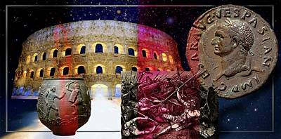 Mixed Media - The Glory And The Terror That Was Rome . by Hartmut Jager