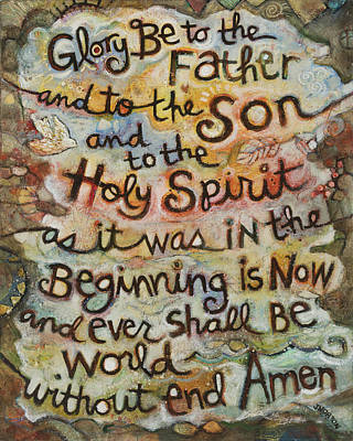 Father Painting - The Glory Be by Jen Norton