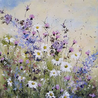 Field Of Flowers Painting - The Glory by Laura Lee Zanghetti