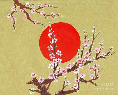 The Glory Morning Sakura Art Print by Renu Martin