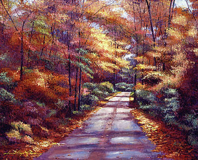Impressionism Paintings - The Glory Of Autumn by David Lloyd Glover