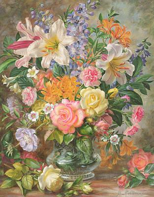 The Glory Of Summertime Art Print by Albert Williams