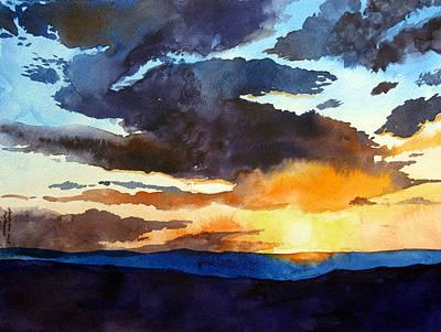 The Glory Of The Sunset Art Print
