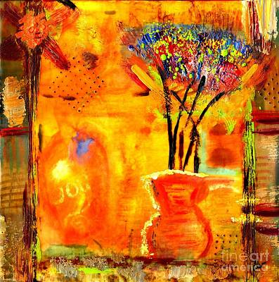 Mixed Media - The Glow Of Joy by Angela L Walker