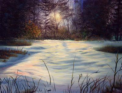The Glow Of Winter Art Print by Tommy  Winn