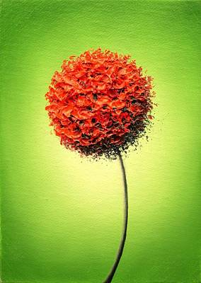 Small Abstract Painting - The Glow by Rachel Bingaman