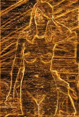 Digital Art - The Glowing by Mario Carini