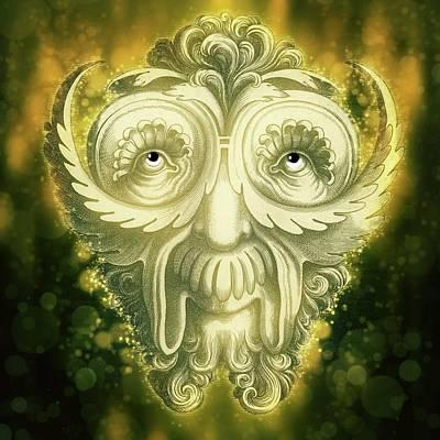 Goblin Mixed Media - The Gnome by Terry Fleckney