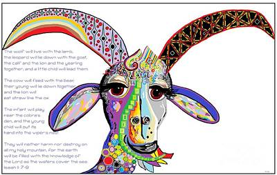 Isaiah Digital Art - The Goat And The Leopard by Eloise Schneider