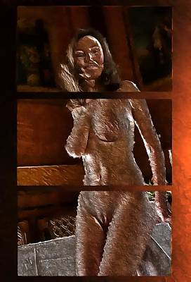 Digital Art - The Goddess by Mario Carini