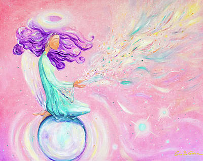 Painting - the Goddess of Love by Gina De Gorna