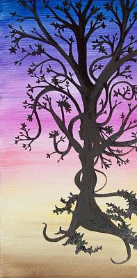 The Goddess Tree Art Print by Amy Lauren Gettys